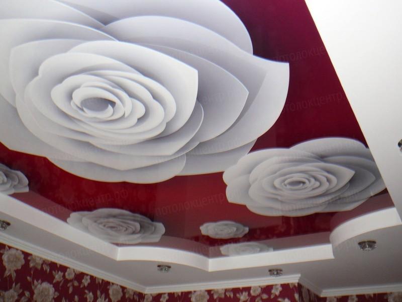 натяжные потолки рисунки фото